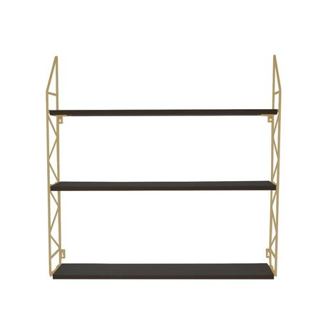 pt, Wandrek Zig Zag gold metal wood 60x60x11cm