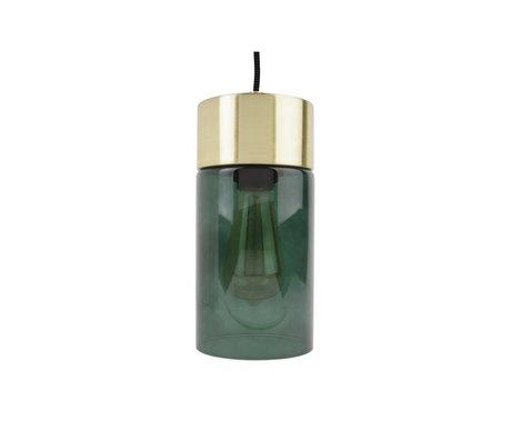 Leitmotiv Hanglamp Salmon gold green glass Ø12cmx24,5cm