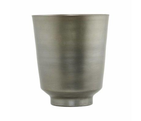 Housedoctor Flowerpot Oli fer argent Ø20x25cm