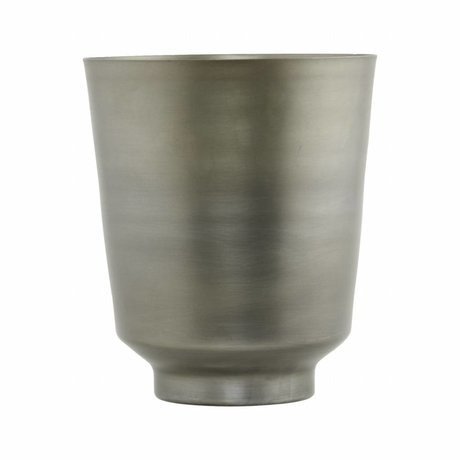 Housedoctor Flowerpot Oli Silver iron Ø20x25cm