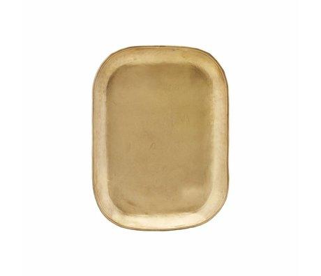 Housedoctor Dienblad Rich gold metal 26.5x19.5x1cm