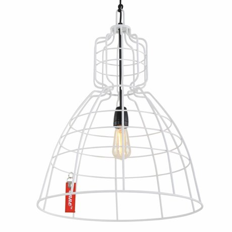 Anne Lighting lampe suspendue Anne MarkllI ø43x68cm en métal blanc