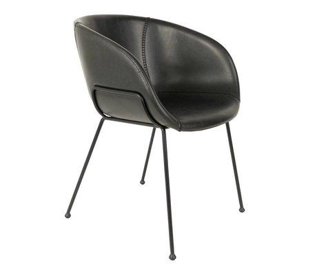 Zuiver Esszimmerstuhl Feston schwarz Kunstleder 56,5x55x77cm