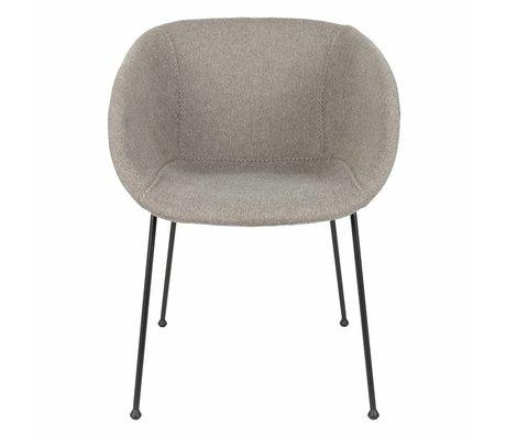 Zuiver Eetkamerstoel Feston Fab 56,5x55x77cm polyester gris