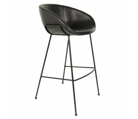 Zuiver Barkruk Feston black imitation leather 54,5x53x98,5cm