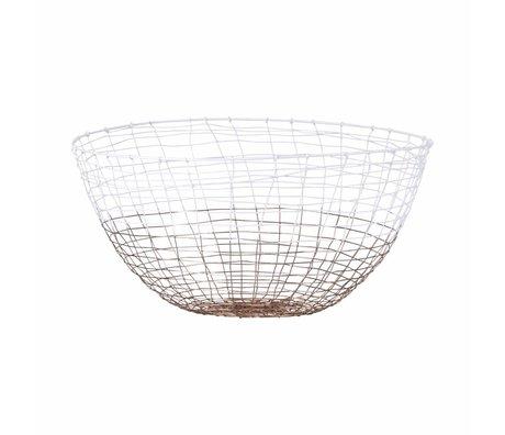 Housedoctor Basket Tief weißes Metall Ø30x16cm