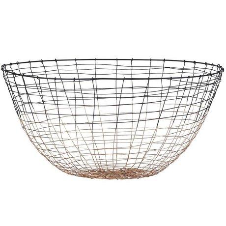 Housedoctor Basket Tiefschwarz Metall Ø30x16cm
