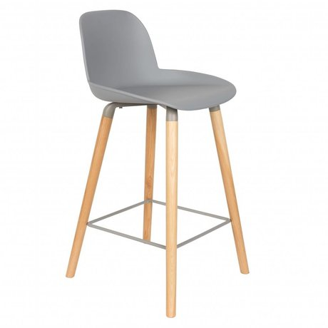 Zuiver Bark Press Albert Kuip Counter Light Gray Plastic Wood 45x47,5x89cm