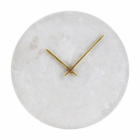Housedoctor Clock Watch Gray Concrete Ø28cm