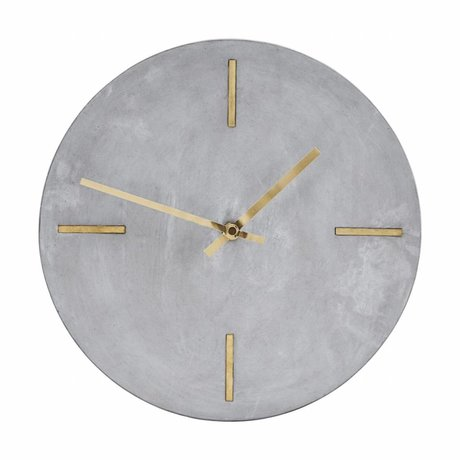 Housedoctor Clock gray cement Ø30cm