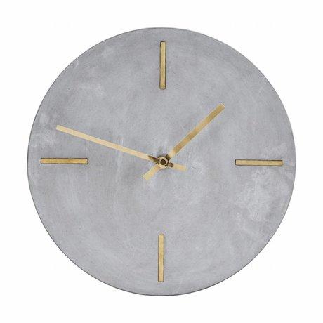 Housedoctor Horloge ciment gris Ø30cm