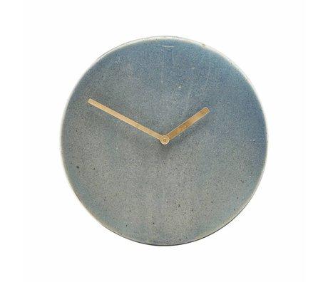 Housedoctor Metro blaue Uhr grau Keramik Ø22cm