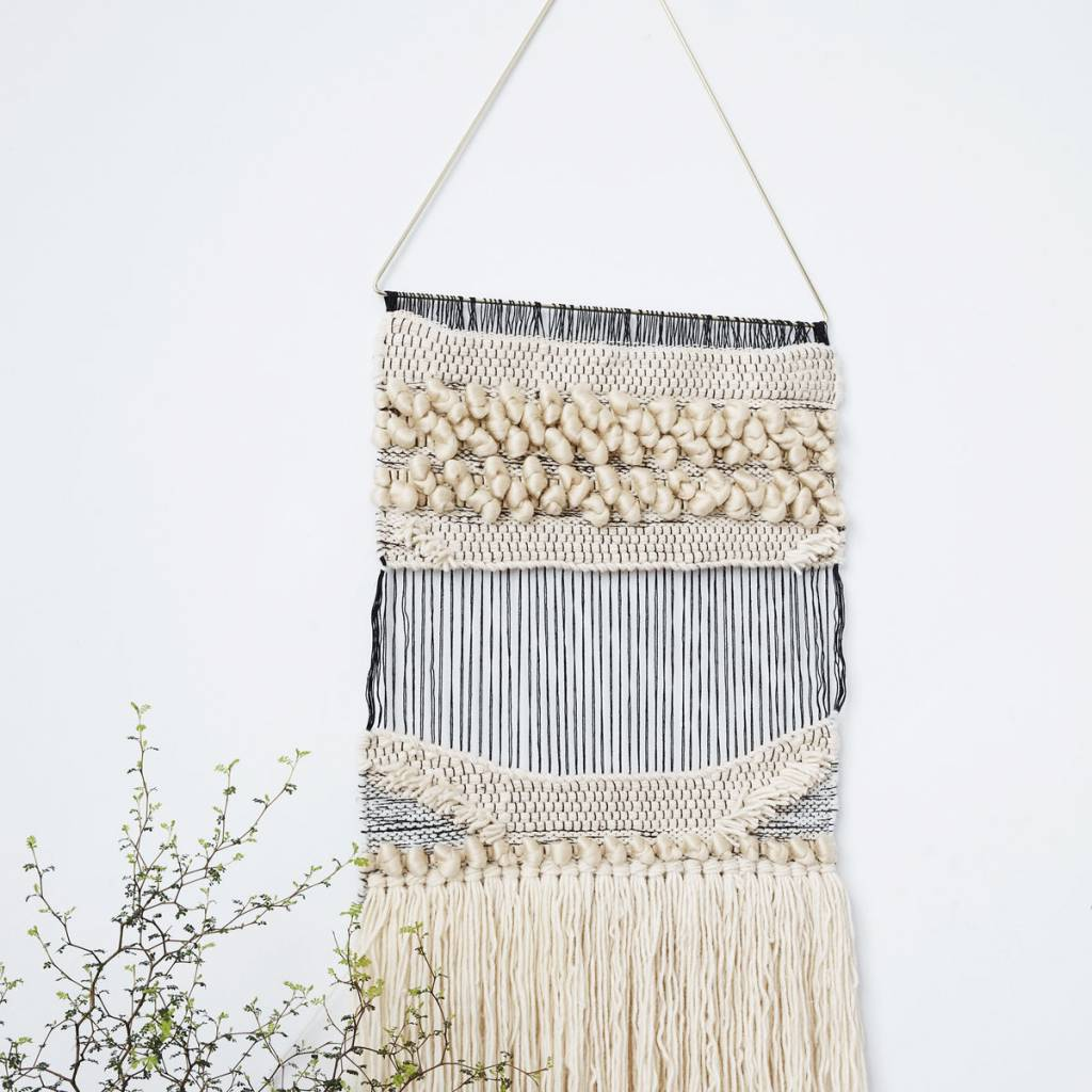 housedoctor tapisserie plen laine de coton 82x42cm acrylique wonen met lef. Black Bedroom Furniture Sets. Home Design Ideas