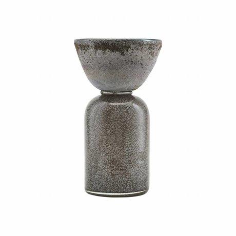 Housedoctor Waxinelichthouder Funnel beige glas Ø13x20cm