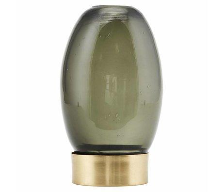 Housedoctor Waxinelichthouder Mushroom grijs goud glas Ø9x14cm