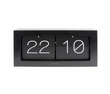 Karlsson Flip clock Boxed black steel 17,5x37cm