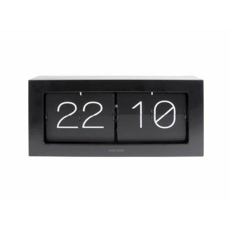 Karlsson Flip Clock Boxed acier noir 17,5x37cm