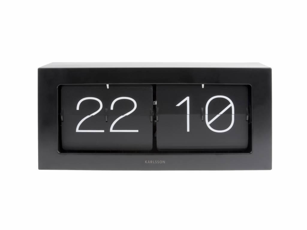 Karlsson Flip Klok : Karlsson flip clock boxed schwarzen stahl cm wonen met lef