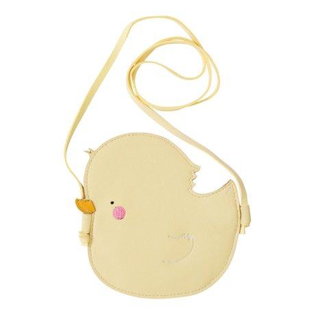 A Little Lovely Company Schoudertasje Little Duck geel acryl 15x15x0.3cm
