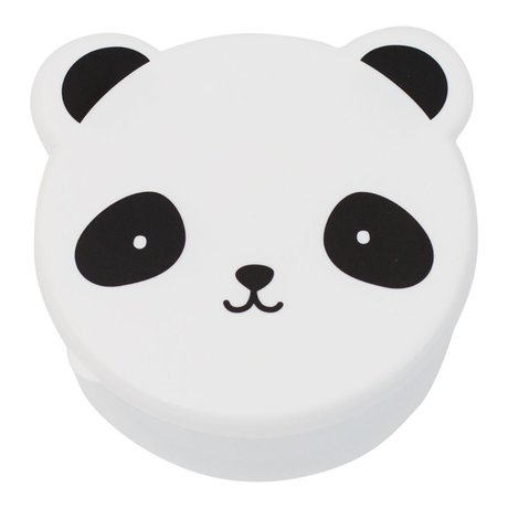 A Little Lovely Company Lunchtime snack box Panda black white plastic set of 4