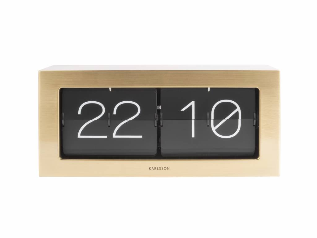 Karlsson Flip Klok : Karlsson flip clock boxed gold stahl cm wonen met lef