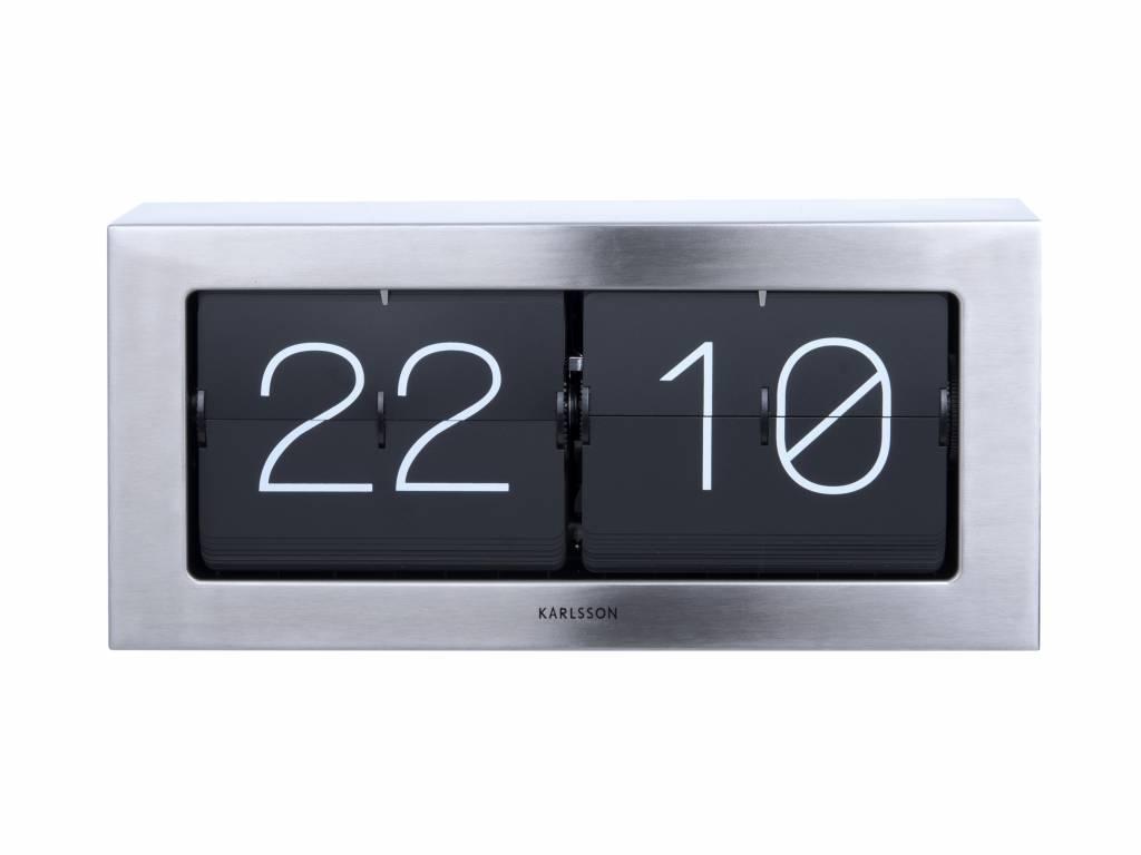 Karlsson Flip Klok : Karlsson flip clock boxed silber stahl cm wonen met lef