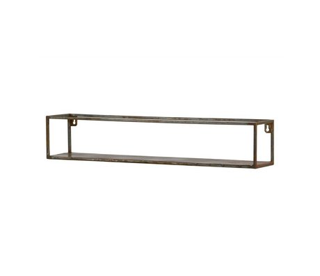 BePureHome Wandregal Weldone xl Rostorange Metall 15x80x15cm
