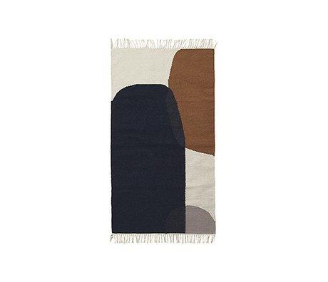 Ferm Living Carpet Merge kilim cotton wool 80x140cm