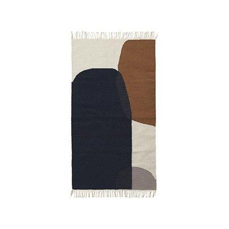Ferm Living Vloerkleed Merge kelim katoen wol 80x140cm