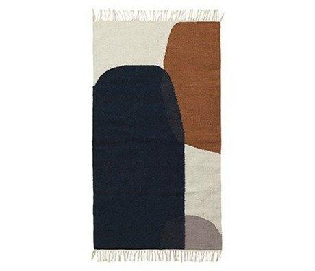 Ferm Living Flooring Merge kelim cotton wool 140x200cm