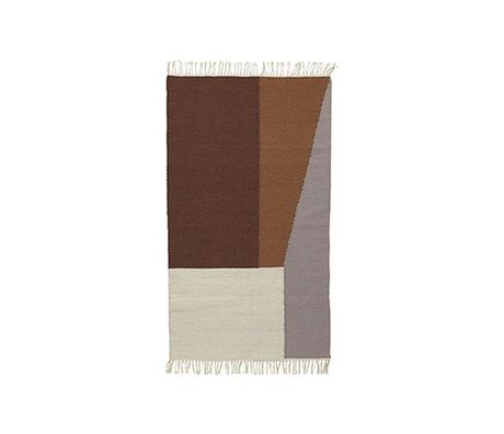 Ferm Living Floor cover Borders kelim cotton wool 80x140cm