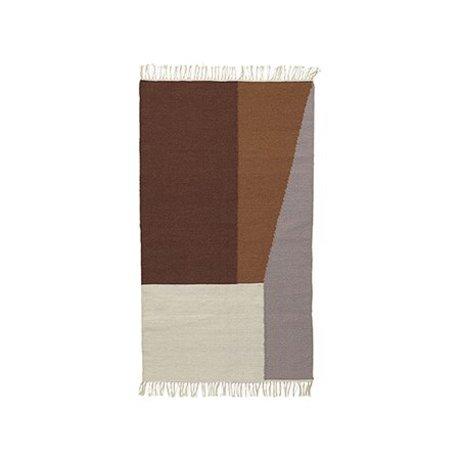 Ferm Living Rug Borders kelim cotton wool 80x140cm