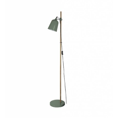 Leitmotiv Floor lamp Wood-like green metal ø15x14x149cm