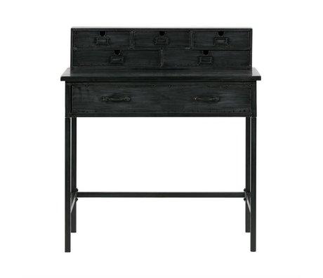 BePureHome bureau bureau métal noir 98x89x56cm