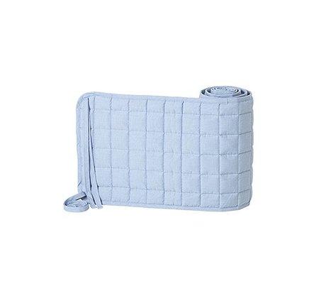 Ferm Living pare-chocs de lit en coton léger Chut polyester bleu 28x180cm