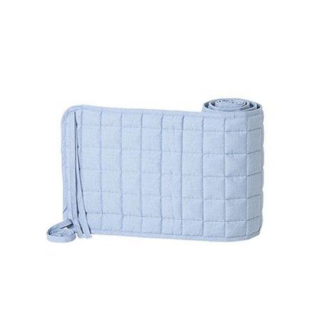 Ferm Living Bed bumper Hush light blue cotton polyester 28x180cm
