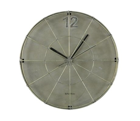 BePureHome Projecteur horloge de fer gris 45x45x11cm