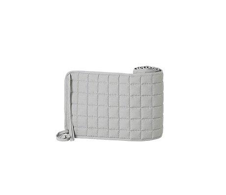 Ferm Living pare-chocs lit en coton polyester gris Chut 28x180cm