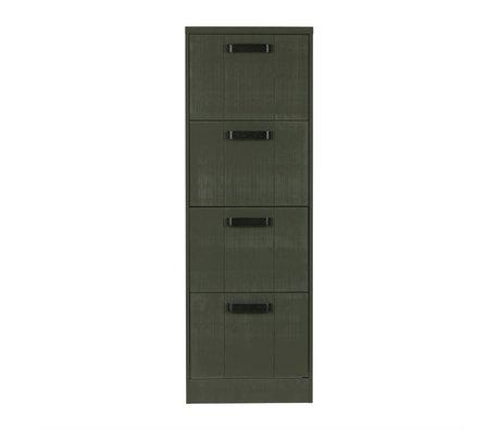 BePureHome Kast File achiefkast forrest groen grenen hout 148x50x44cm