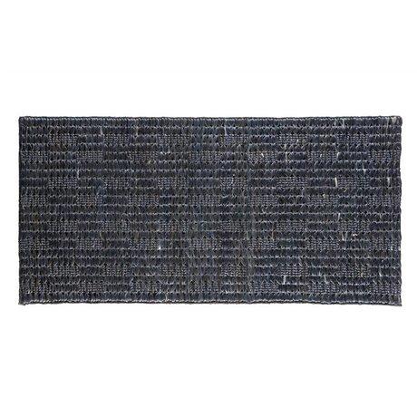 BePureHome Teppich Szenen weichen schwarze Leinwand 70x140cm