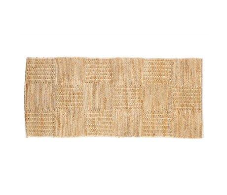 BePureHome Teppich Szenen natürliche braun Leinwand 70x140cm