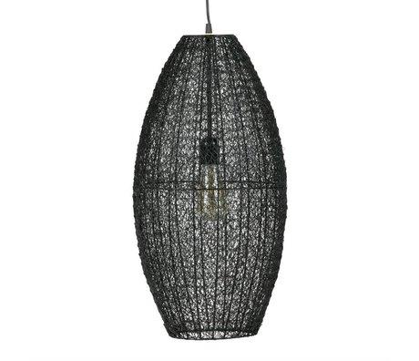 BePureHome Hanglamp Creative L zwart metaal 60x30x30cm