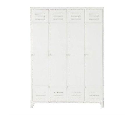 BePureHome Cabinet kast locker Discover wit metaal 153,5x110,5x43cm