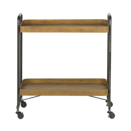 BePureHome Trolley Rusty Rust Orange Metal 83x91,5x35,5cm