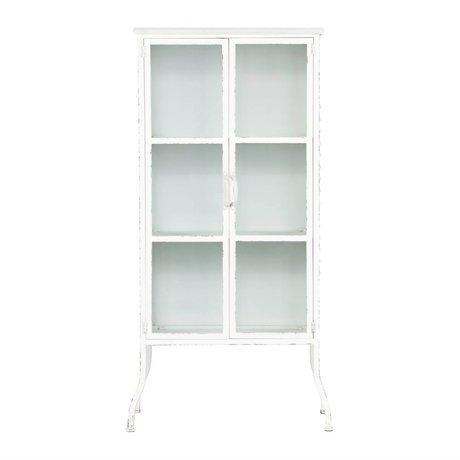 BePureHome Glass case Feminine white metal 136x69x39cm