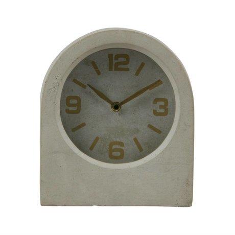 BePureHome Horloge Timeless gris 24x20,8x10cm béton