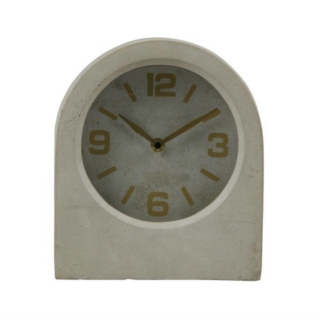 BePureHome Klok Timeless grijs beton 24x20,8x10cm