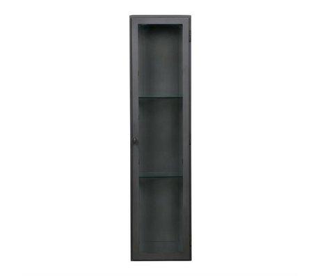 BePureHome Vitrinekast Trophy black metal 95x42,5x23cm
