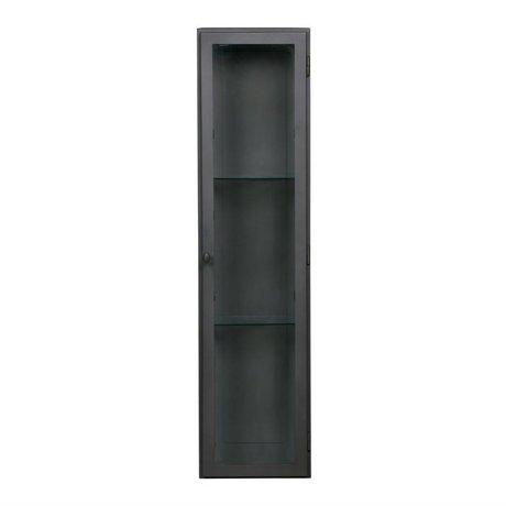 BePureHome Vitrine trophée 95x42,5x23cm métallique noir