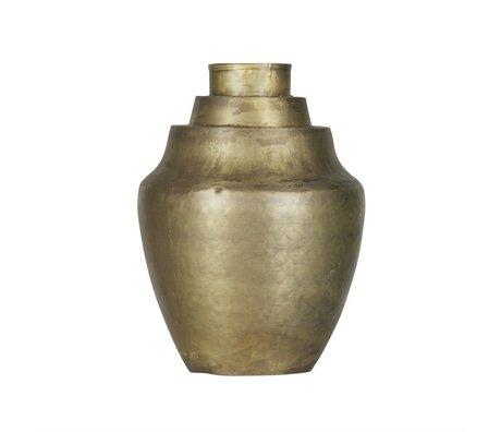 BePureHome Vaas Cheer antiek brass goud metaal 31x23x23cm